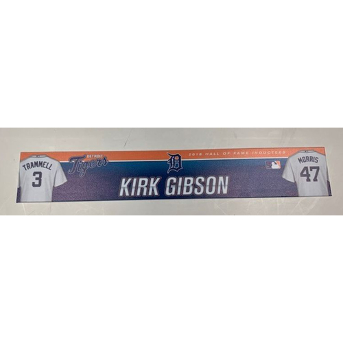 Photo of Game-Used 2017 Spring Training Locker Name Plate: Kirk Gibson