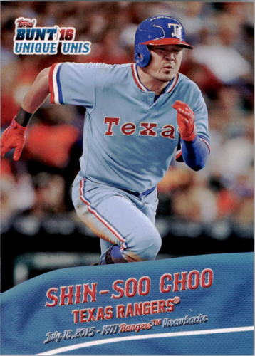 Photo of 2016 Topps Bunt Unique Unis #UU3 Shin-Soo Choo