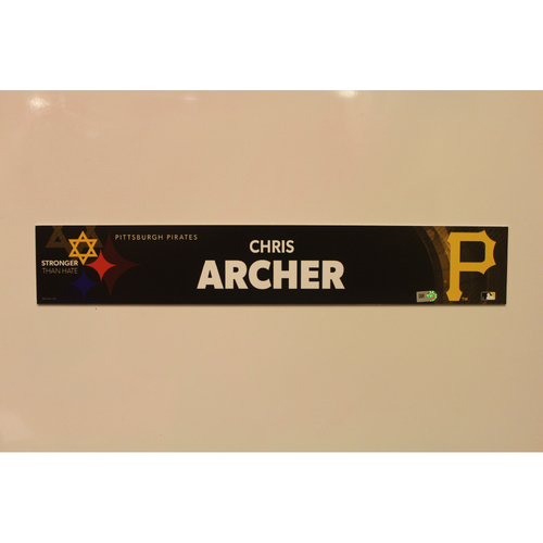 Photo of 2019 Game Used Locker Nameplate - Chris Archer