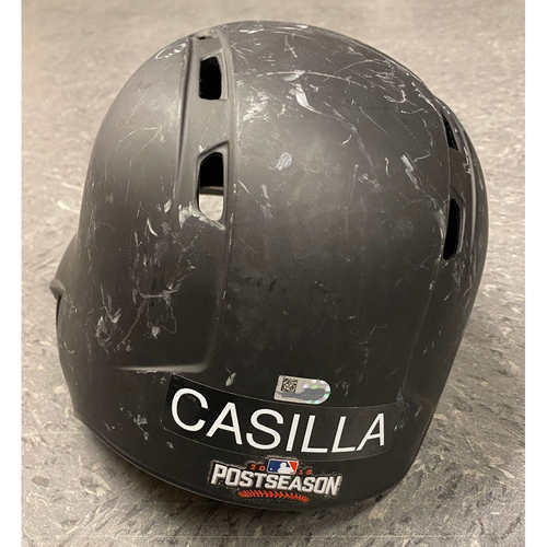 Photo of 2016 Team Issued Postseason Batting Helmet - #46 Santiago Casilla - Size 7 3/8