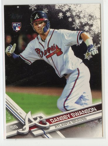 Photo of 2017 Topps Walmart Holiday Snowflake #HMW35 Dansby Swanson RC