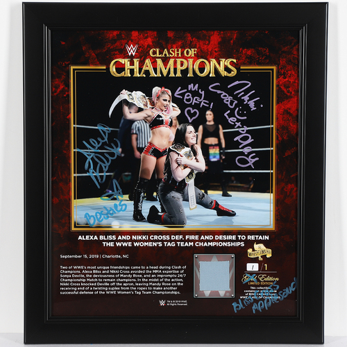 Photo of Alexa Bliss and Nikki Cross SIGNED Custom Edition Plaque (1 of 1)