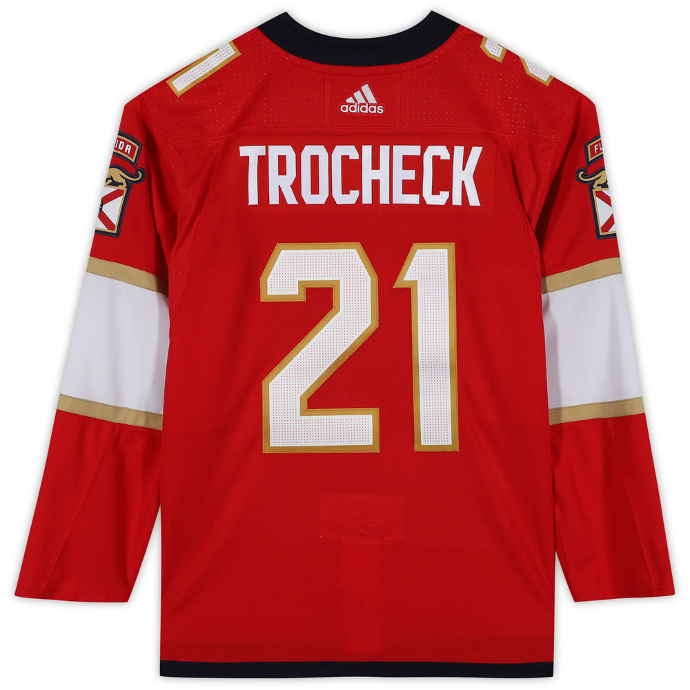 Vincent Trocheck Florida Panthers Unsigned Red Adidas Authentic Jersey
