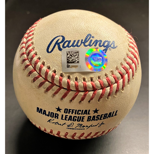 Photo of Game-Used Baseball: Brett Phillips World Series Hero Tampa Bay Rays First Hit of the 2020 Season (MLB AUTHENTICATED)
