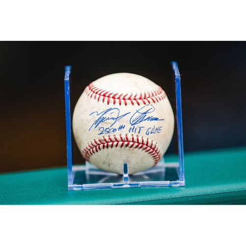 Cabrera Exclusive! Autographed Game-Used Baseball: Miguel Cabrera 2500th Hit Game Baseball (MLB AUTHENTICATED)