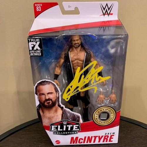 Photo of Drew McIntyre SIGNED WWE Elite Series 83 Action Figure