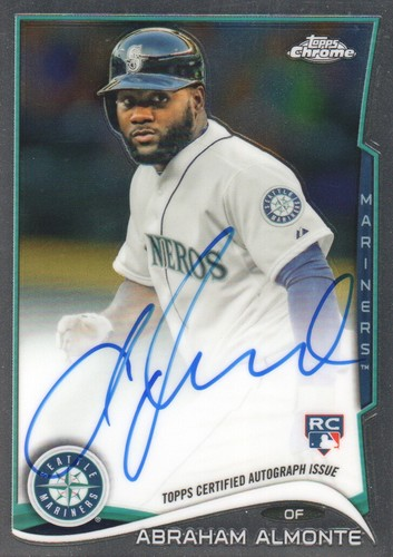 Photo of 2014 Topps Chrome Rookie Autographs #12 Abraham Almonte