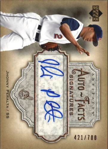 Photo of 2006 Artifacts Auto-Facts Signatures #JP Jhonny Peralta/700