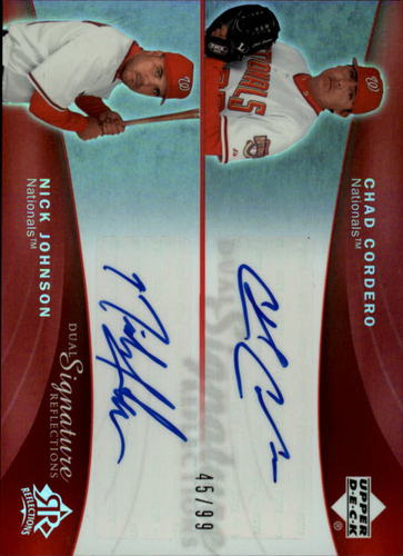 Photo of 2005 Reflections Dual Signatures Red #CCNJ Chad Cordero/Nick Johnson