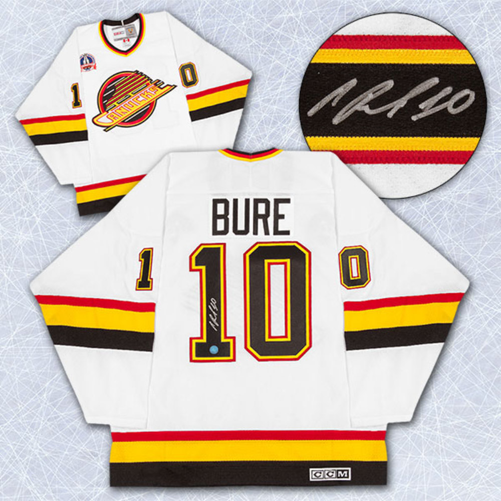 499b87805 Pavel Bure Vancouver Canucks Signed 1994 Cup Finals Retro CCM Hockey Jersey