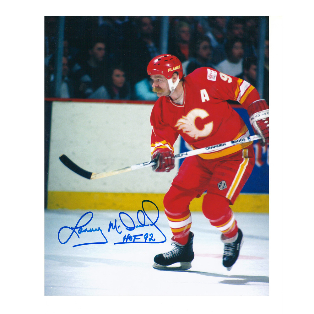 LANNY MCDONALD Signed Calgary Flames 8 X 10 Photo - 70277