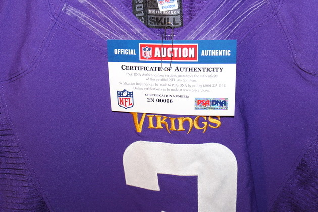 big sale f87a9 d84e4 NFL Auction | VIKINGS BLAIR WALSH GAME WORN JERSEY (OCTOBER ...