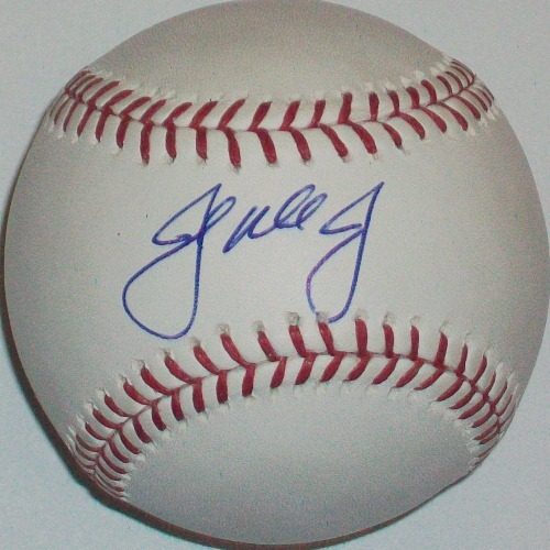 Photo of John Mayberry Jr. Autographed Baseball