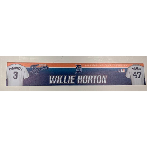 Photo of Game-Used 2017 Spring Training Locker Name Plate: Willie Horton