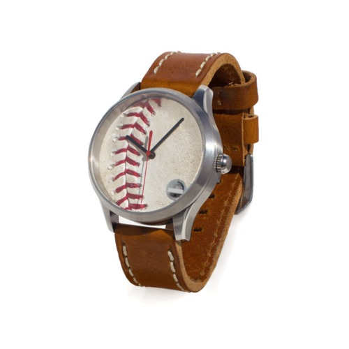 Photo of Tokens & Icons Milwaukee Brewers Game-Used Baseball Watch