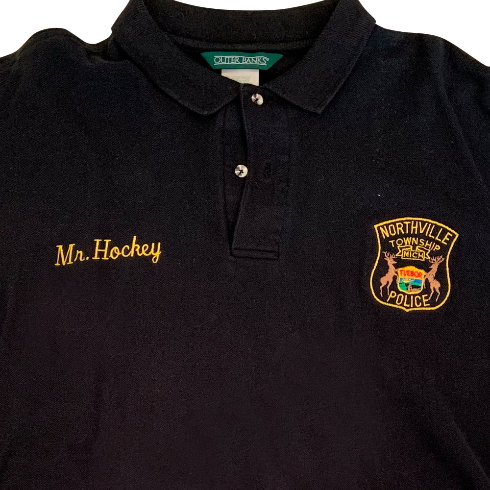 cheap for discount 72c4e 3e1dc Northville Township Michigan Police Mr. Hockey #9 Golf Shirt ...