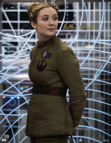 Billie Lourd As Lieutenant Connix 11X14 AUTOGRPAHED IN 'GOLD' INK PHOTO