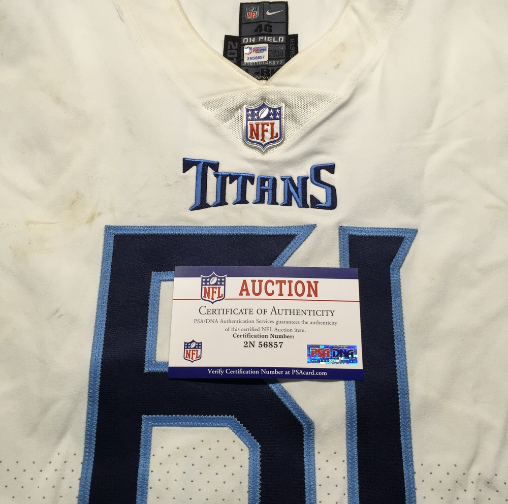 info for 7534f db854 NFL Auction | London Games - Titans Aaron Stinnie Game Used ...
