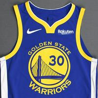Stephen Curry - Golden State Warriors - 2018-19 NBA Season - Game-Worn Blue Icon Edition Jersey
