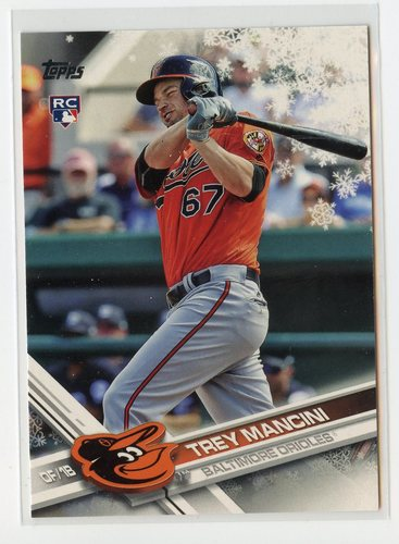 Photo of 2017 Topps Walmart Holiday Snowflake #HMW90 Trey Mancini RC