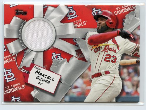 Photo of 2019 Topps Walmart Holiday Relics #WHRMO Marcell Ozuna
