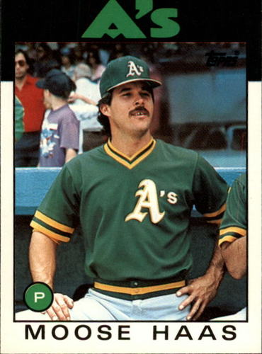 Photo of 1986 Topps Traded #44T Moose Haas