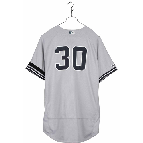 Photo of Edwin Encarnacion New York Yankees Game-Used #30 Gray Jersey vs. Texas Rangers on September 29, 2019