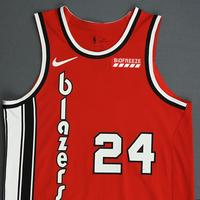Kent Bazemore - Portland Trail Blazers - Game-Worn Classic Edition 1975-77 Road Jersey - 2019-20 NBA Season