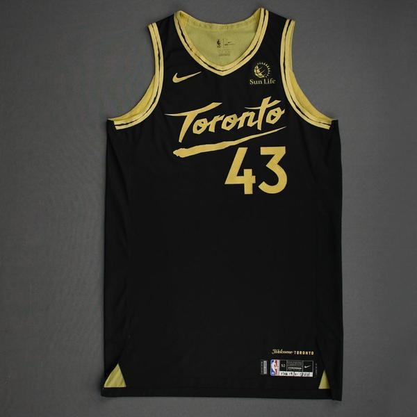 Image of Pascal Siakam - Toronto Raptors - Game-Worn City Edition Jersey - Scored Team-High 27 Points - 2020-21 NBA Season
