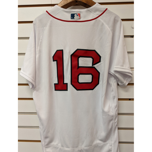 Photo of Andrew Benintendi #16 Team Issued Nike White Home Jersey