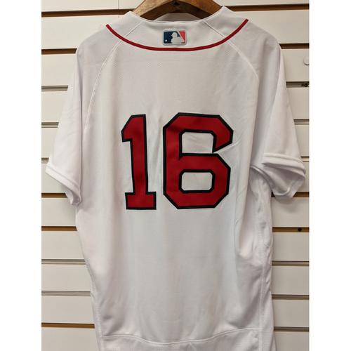 Andrew Benintendi #16 Team Issued Nike White Home Jersey