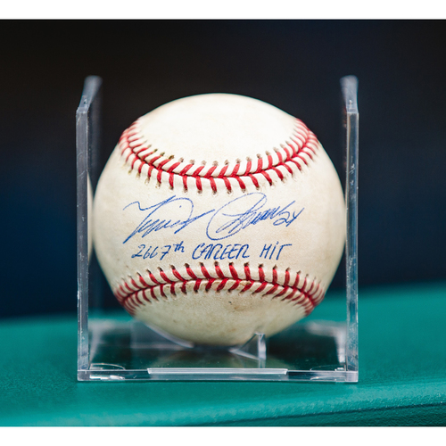 Photo of Cabrera Exclusive! Autographed Game-Used Baseball: Miguel Cabrera Career Hit #2667 (MLB AUTHENTICATED)