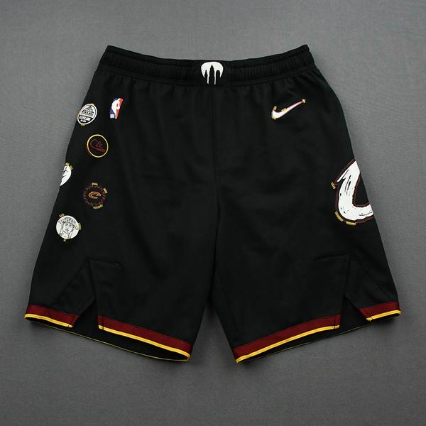 Image of Darius Garland - Cleveland Cavaliers - Game-Issued City Edition Shorts - 2020-21 NBA Season