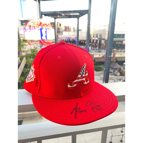 Photo of Max Fried MLB Authenticated Autographed 2018, 4th of July Hat