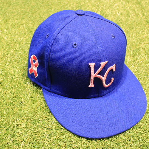 Photo of Game-Used 2021 Mother's Day Hat: Josh Staumont #63 - Size 7 1/4