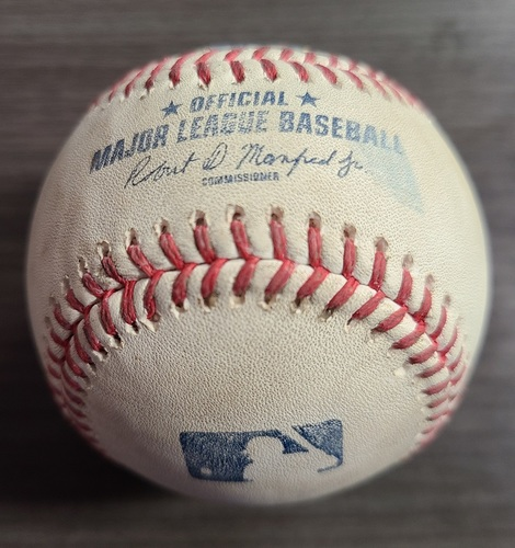 Photo of Authenticated Game Used Baseball: Strikeout by Jose Berrios against Salvador Perez (Aug 1, 2021 vs KCR). Top 3.