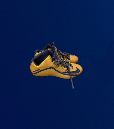 Photo of Navy and Gold Player Issued Nike Alpha Cleats