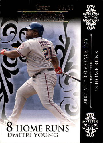 Photo of 2008 Topps Moments and Milestones Black #22-8 Dmitri Young
