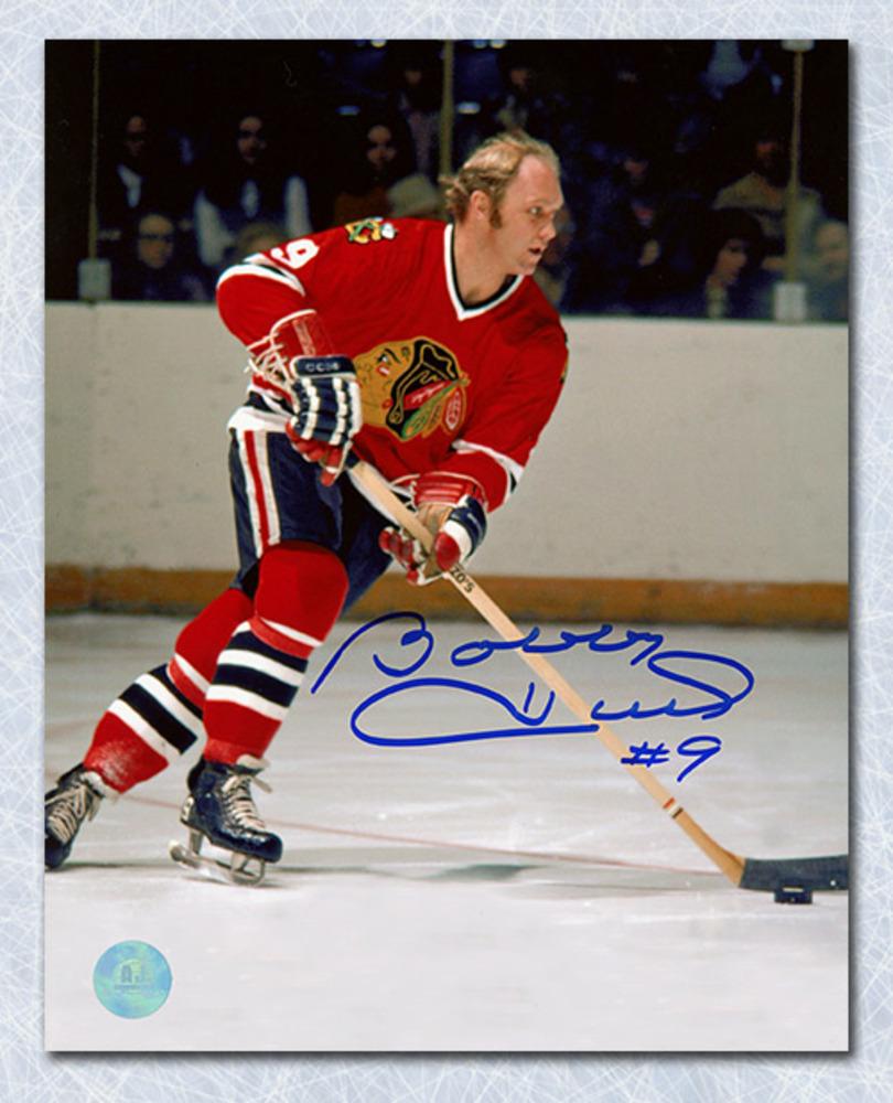 Bobby Hull Chicago Blackhawks Autographed NHL Game Action 8x10 Photo