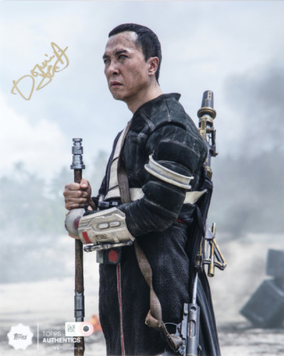 Donnie Yen as Chirrut Îmwe Autographed in Gold Ink 8x10 Photo
