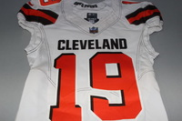 CRUCIAL CATCH - BROWNS COREY COLEMAN SIGNED AND GAME ISSUED BROWNS JERSEY (OCTOBER 8, 2017) SIZE 38