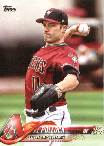 Photo of 2018 Topps #216 A.J. Pollock