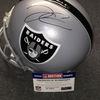California Fire Relief - Raiders Derek Carr signed Raiders proline helmet