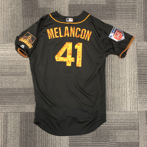 Photo of 2018 Spring Training Jersey - worn by #41 Mark Melancon - Team Issued - size 46