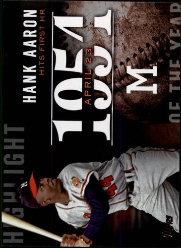 Photo of 2015 Topps Highlight of the Year #H69 Hank Aaron UPD