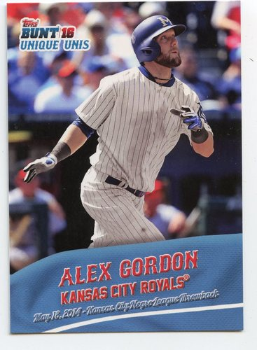 Photo of 2016 Topps Bunt Unique Unis #UU6 Alex Gordon