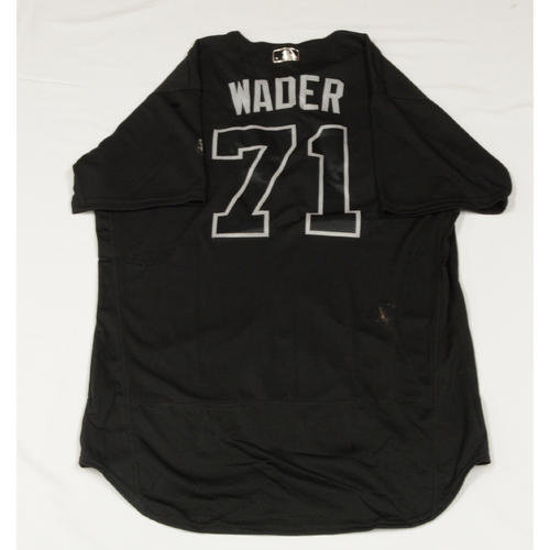 "Photo of Wade ""WADER"" Davis Colorado Rockies Game-Used 2019 Players' Weekend Jersey"