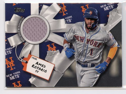 Photo of 2019 Topps Walmart Holiday Relics #WHRARO Amed Rosario