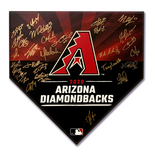 Photo of 2020 Team Autographed Homeplate - Not MLB Authenticated - D-backs Certificate of Authenticity Included