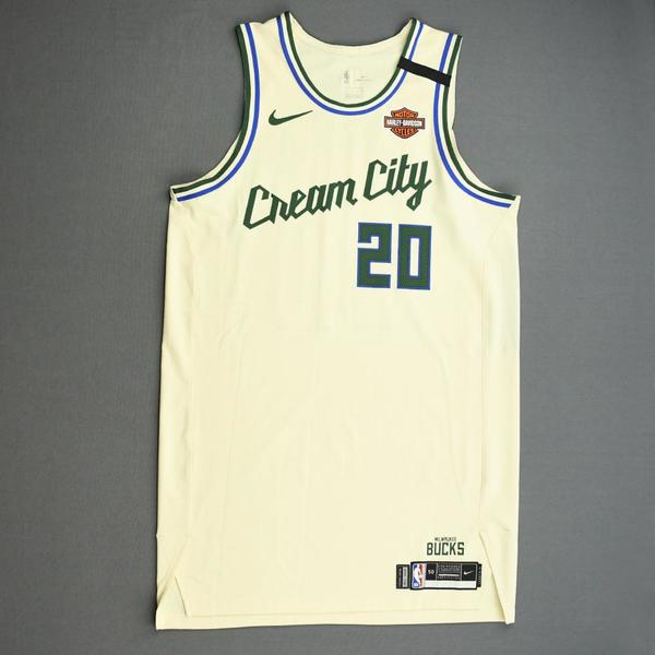 Image of Marvin Williams - Milwaukee Bucks - Game-Worn City Edition Jersey - 2019-20 NBA Season Restart with Social Justice Message